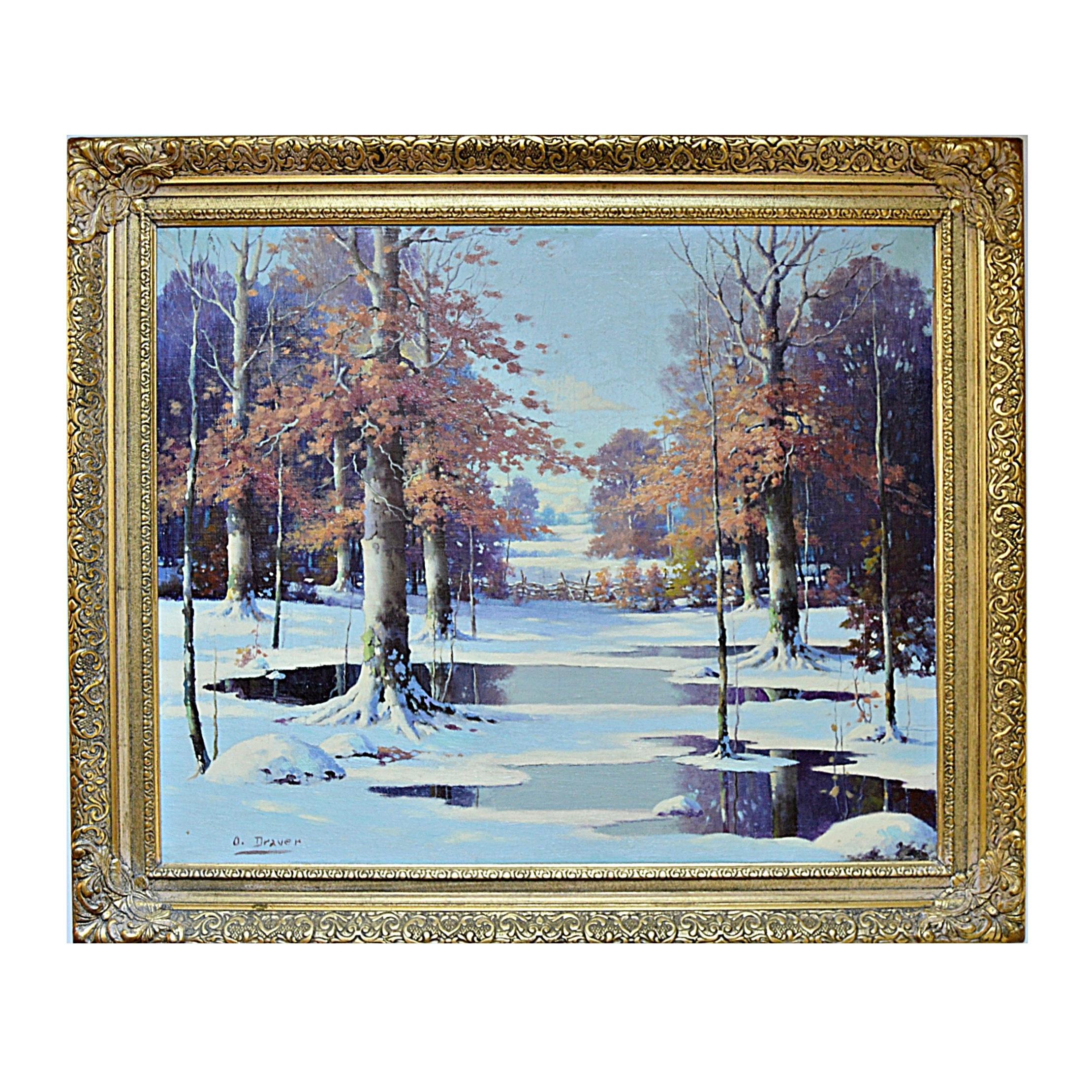 Orrin Draver Original Landscape Oil on Canvas