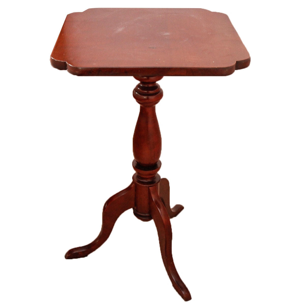 Vintage Queen Anne Style Pedestal Side Table ...