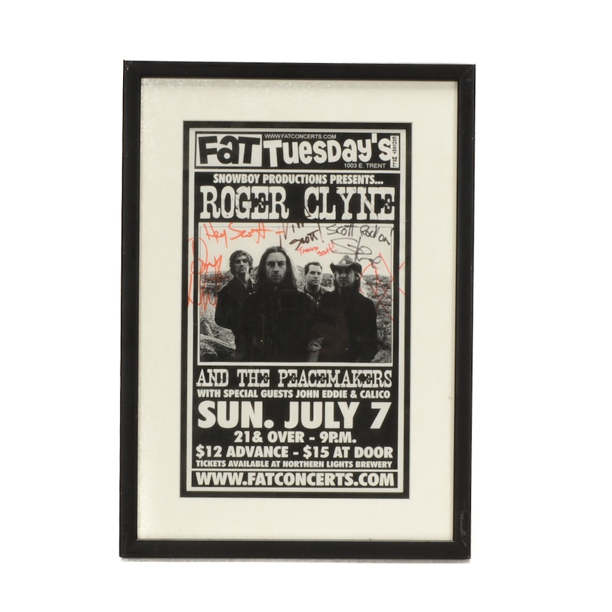 Roger Clyne and the Peacemakers Autographed Concert Poster : EBTH