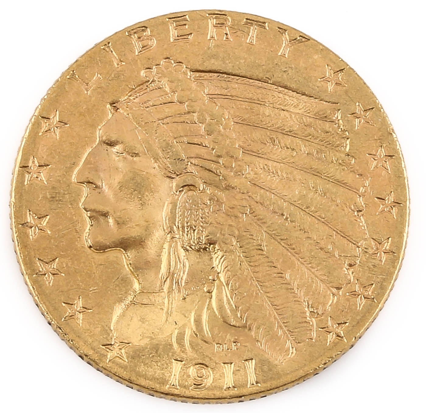 1911 Indian Head $2 1/2 Gold Coin