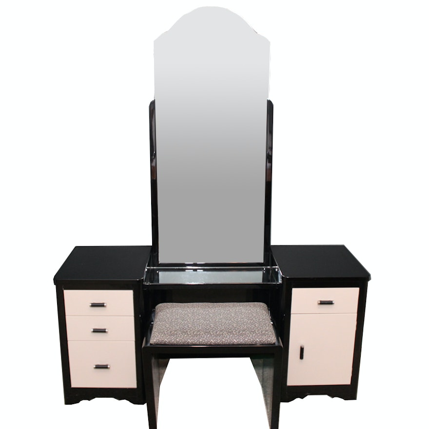 Norman Bel Geddes For Simmons Furniture Vanity And Stool : EBTH
