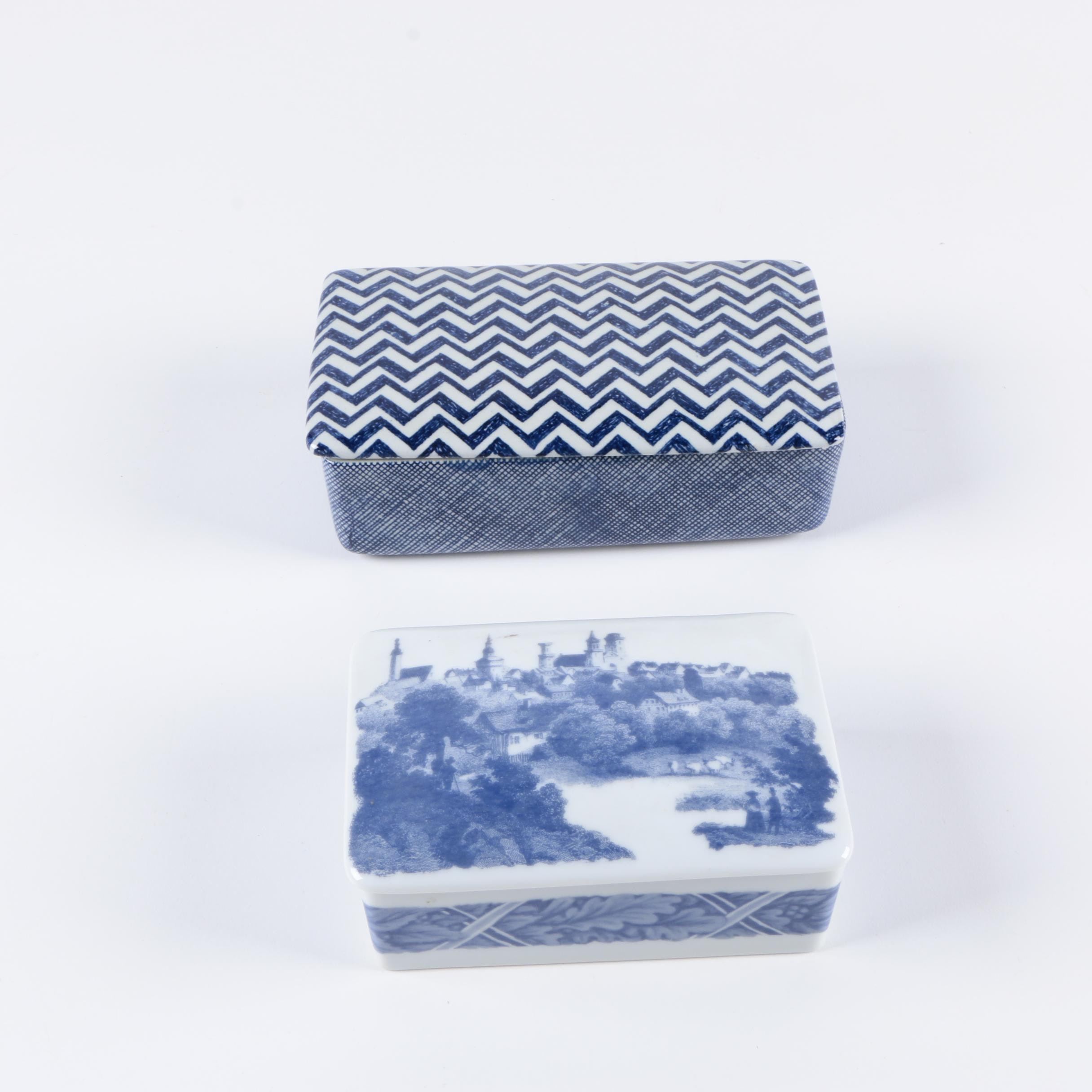 Nymølle and Estee Lauder Trinket Boxes