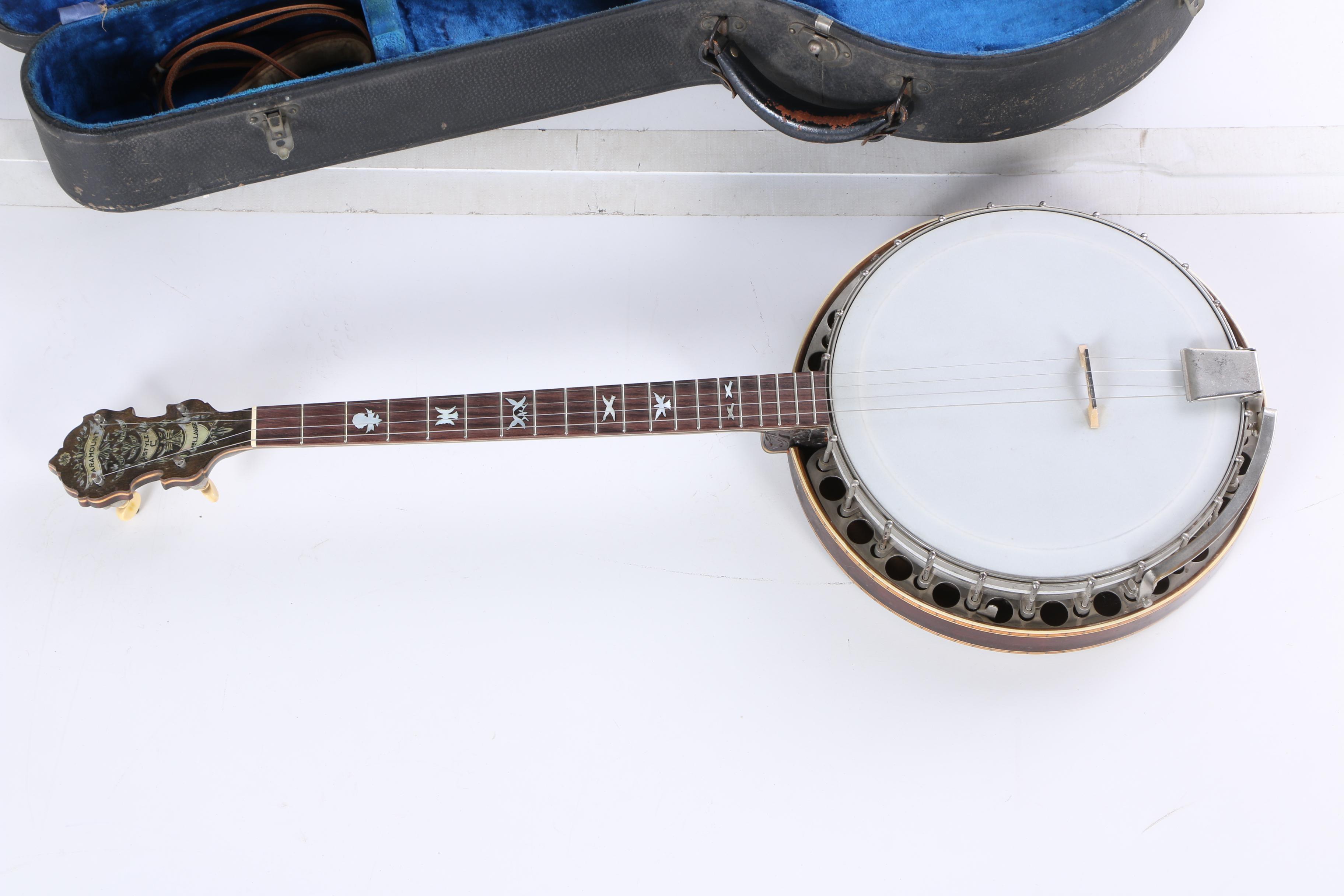 Priority Vintage 1920s Paramount Style C Tenor Banjo By Wm