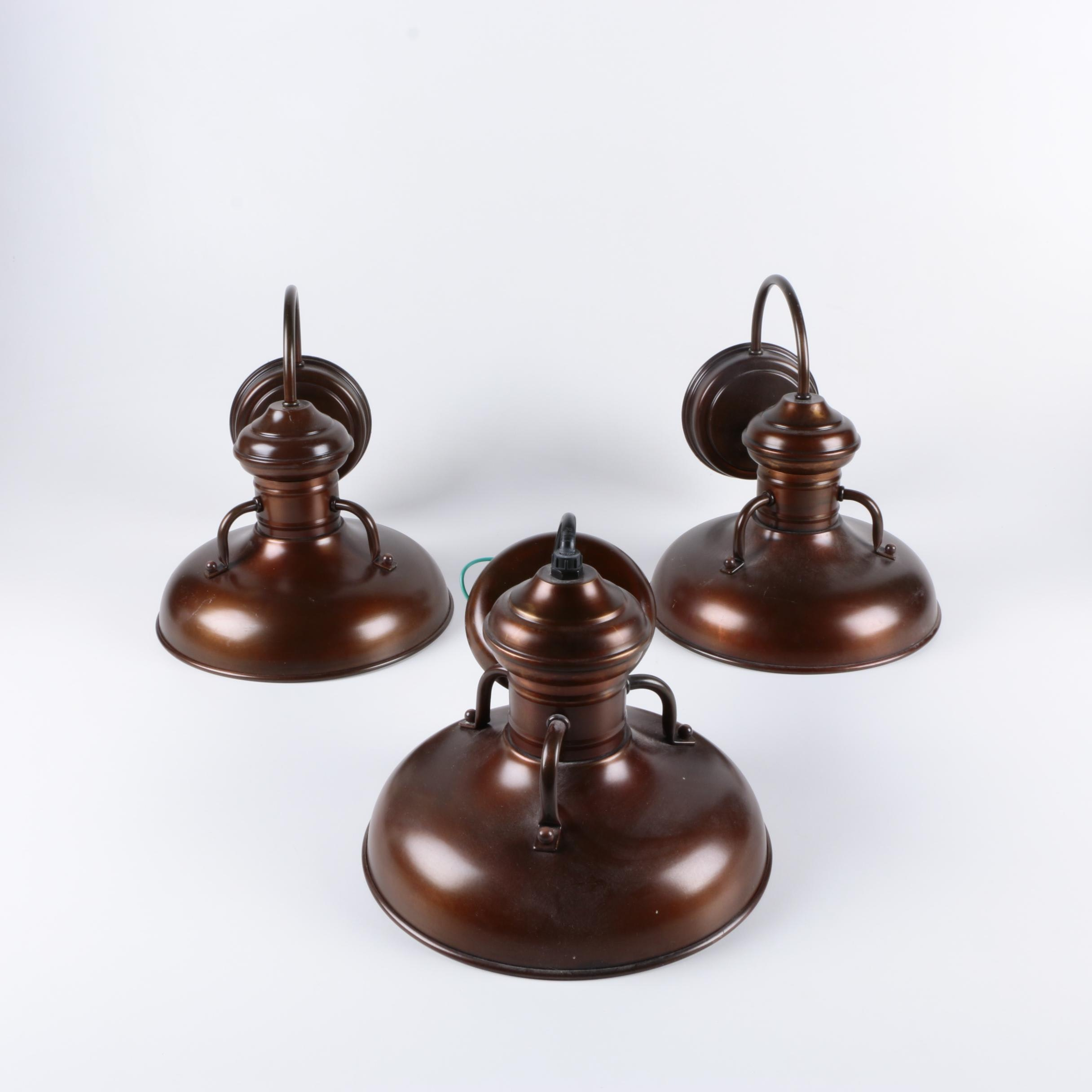 Bronze Tone Wall Sconces and Pendant Light