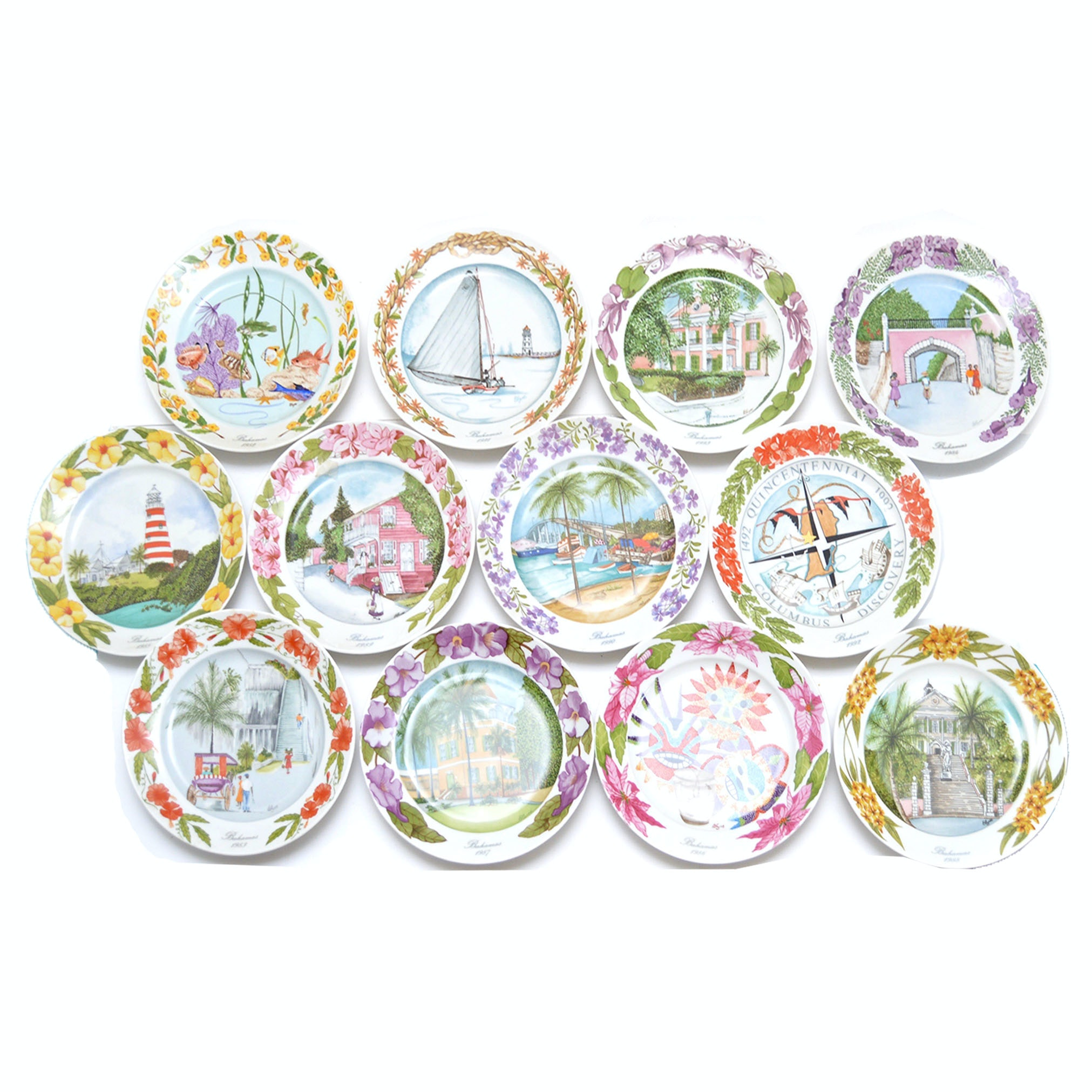 Collection of Bahama Plates by Kaiser
