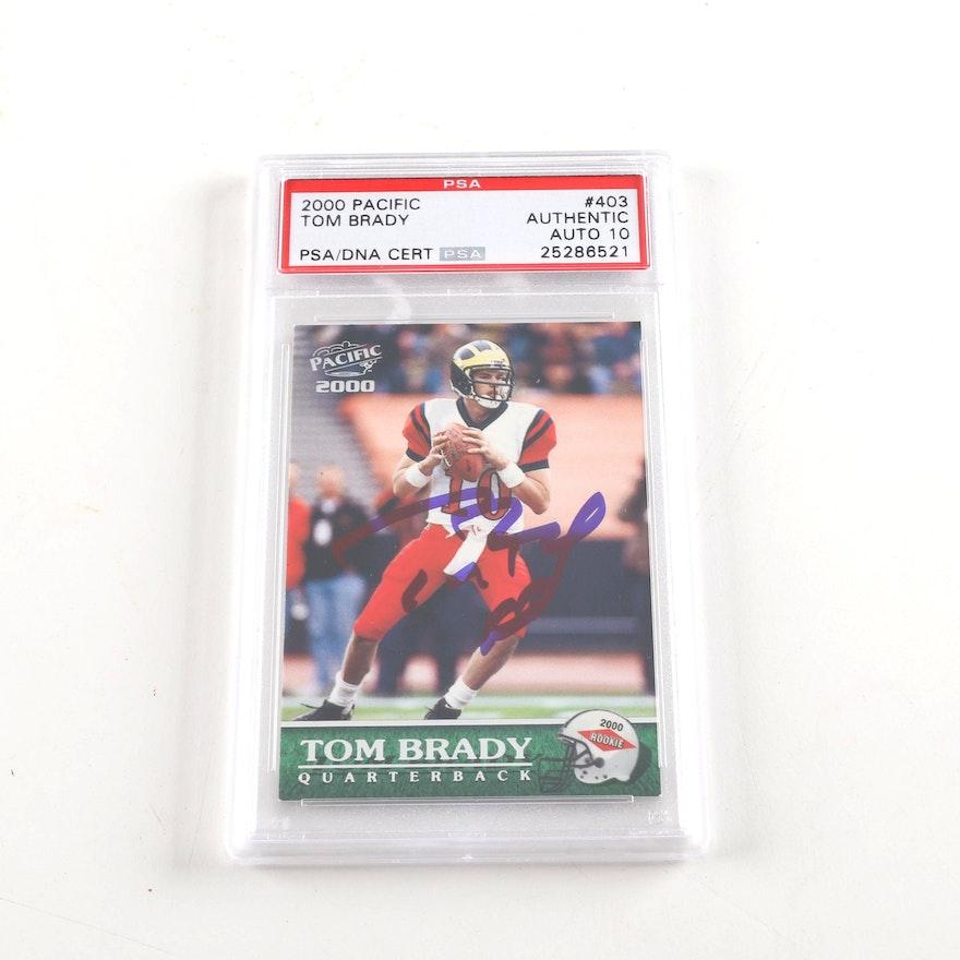Tom Brady Autographed Rookie Card Psa Authenticated