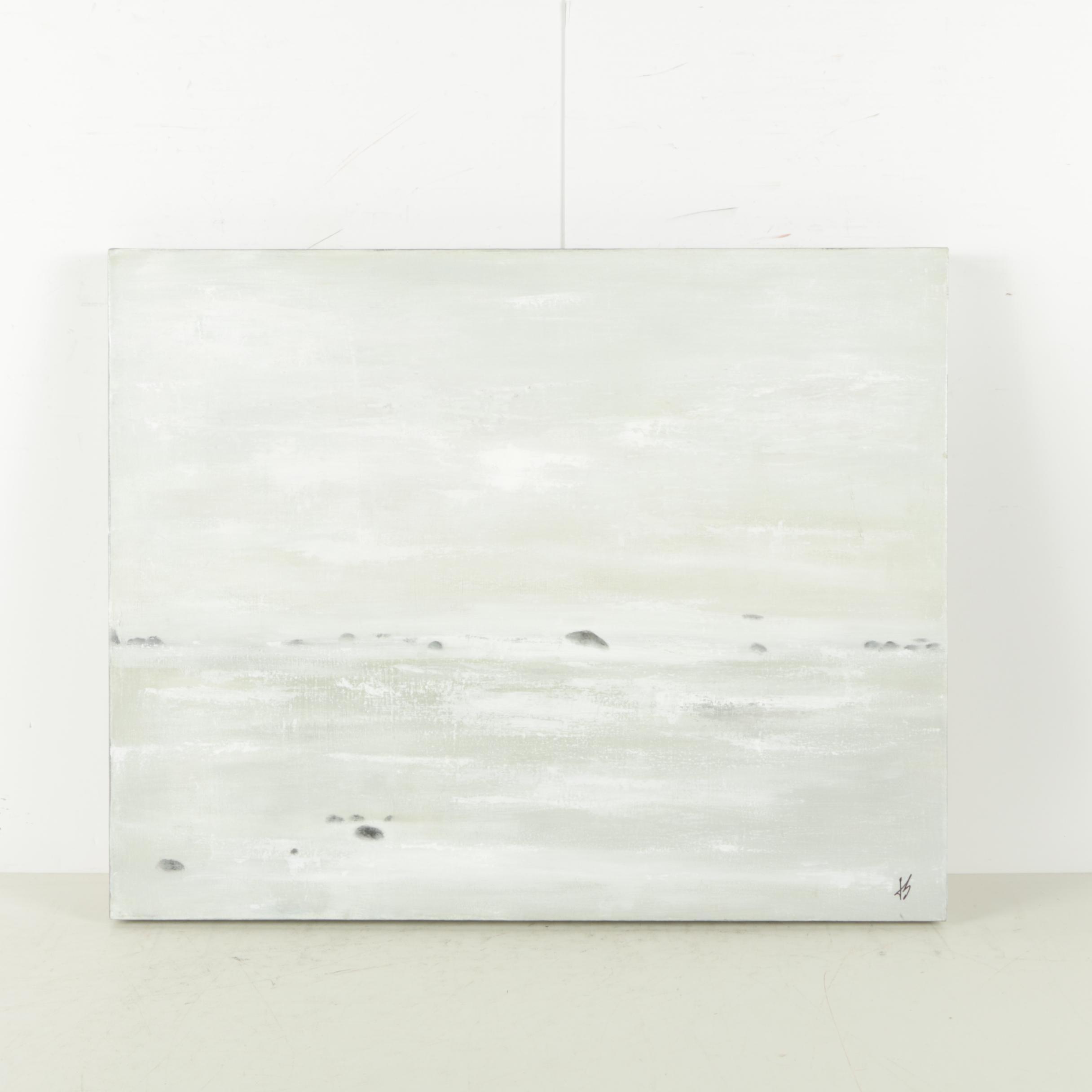 Jacqueline Saporiti Acrylic on Canvas Minimalist Landscape