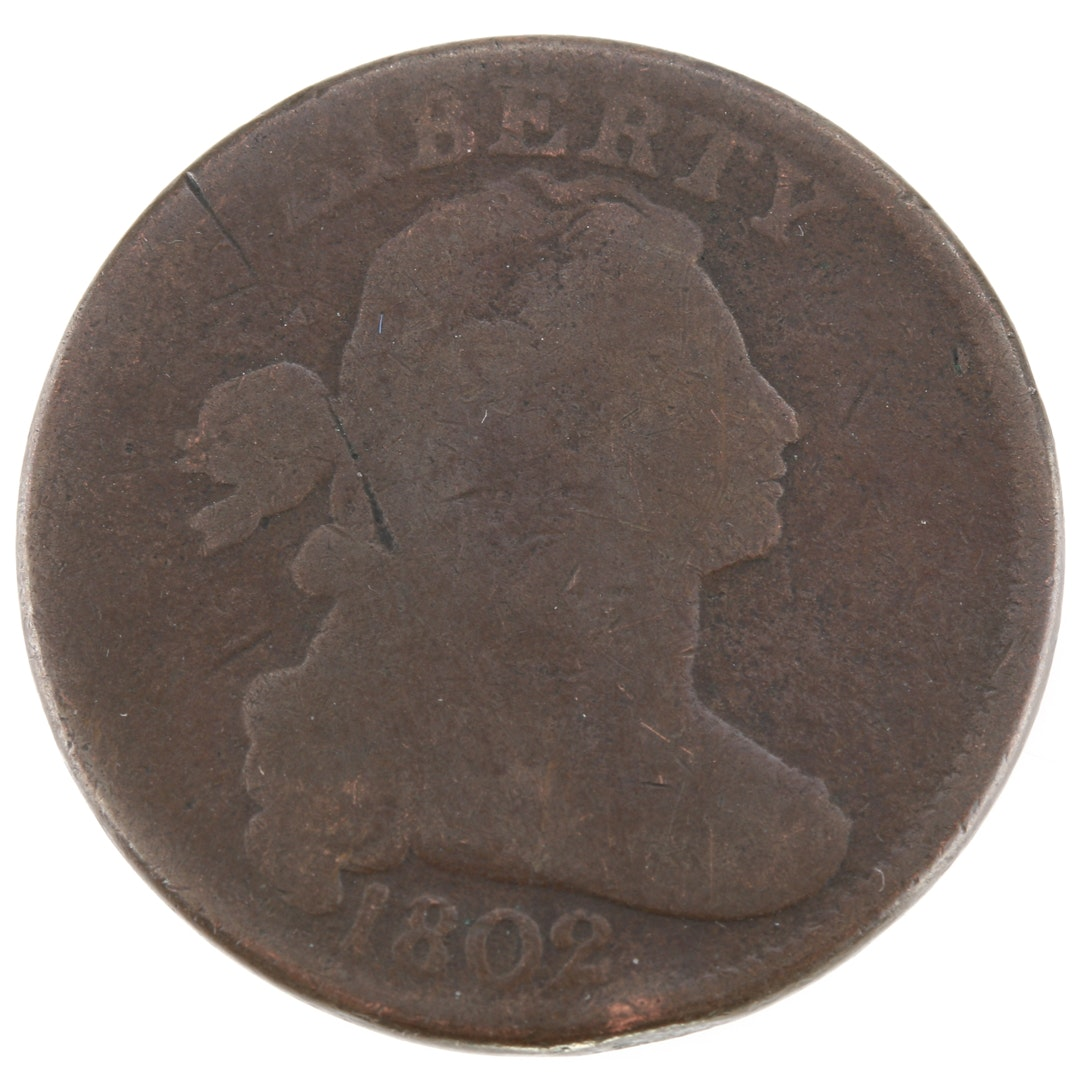 1802 Draped Bust Large Cent Fraction Reverse