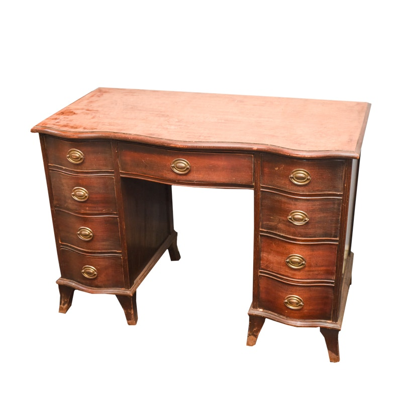 Vintage Mahogany Knee-Hole Desk