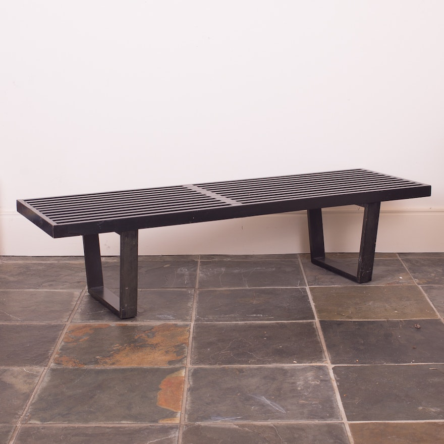 Excellent Herman Miller Nelson Platform Bench In Black Stained Finish Gmtry Best Dining Table And Chair Ideas Images Gmtryco