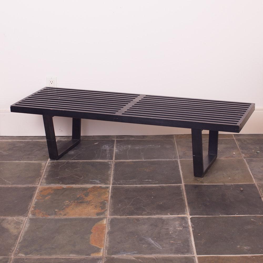 Herman Miller Nelson Platform Bench in Black Stained Finish