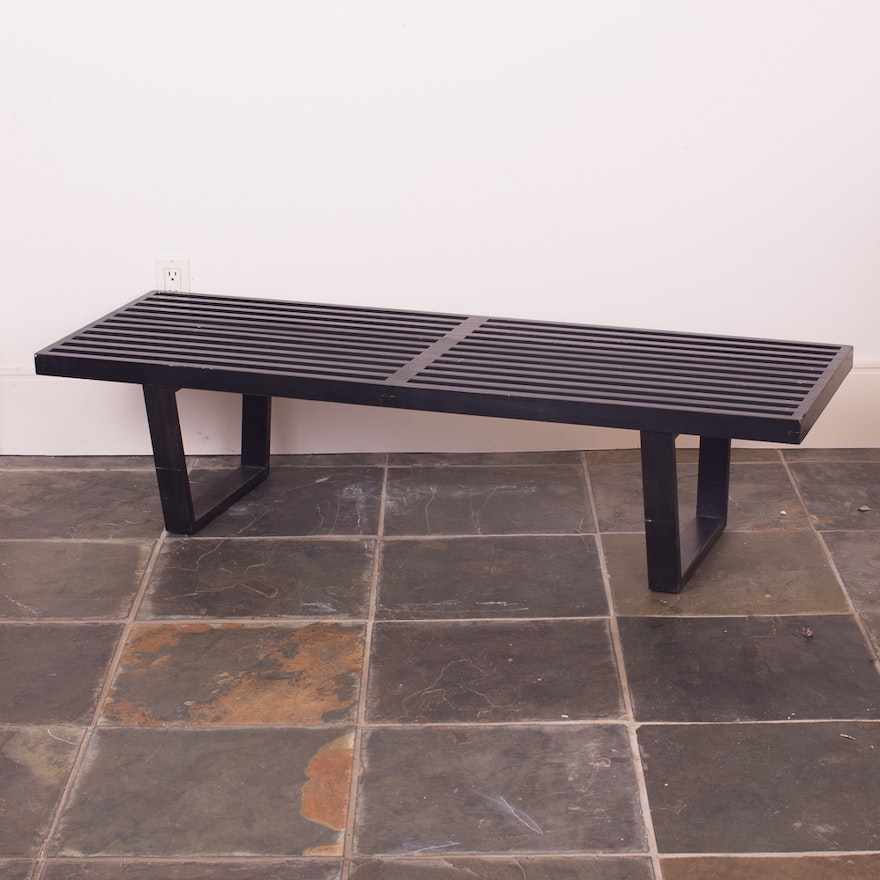 Stupendous Herman Miller Nelson Platform Bench In Black Stained Finish Gmtry Best Dining Table And Chair Ideas Images Gmtryco