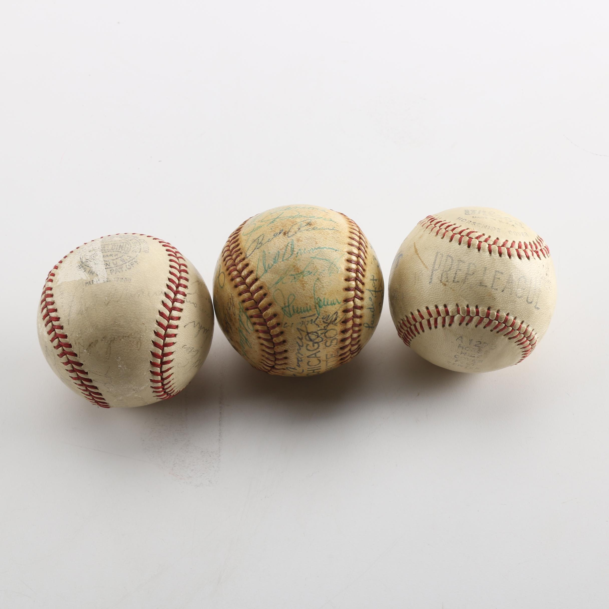 Autographed Baseballs including 1956 Chicago White Sox