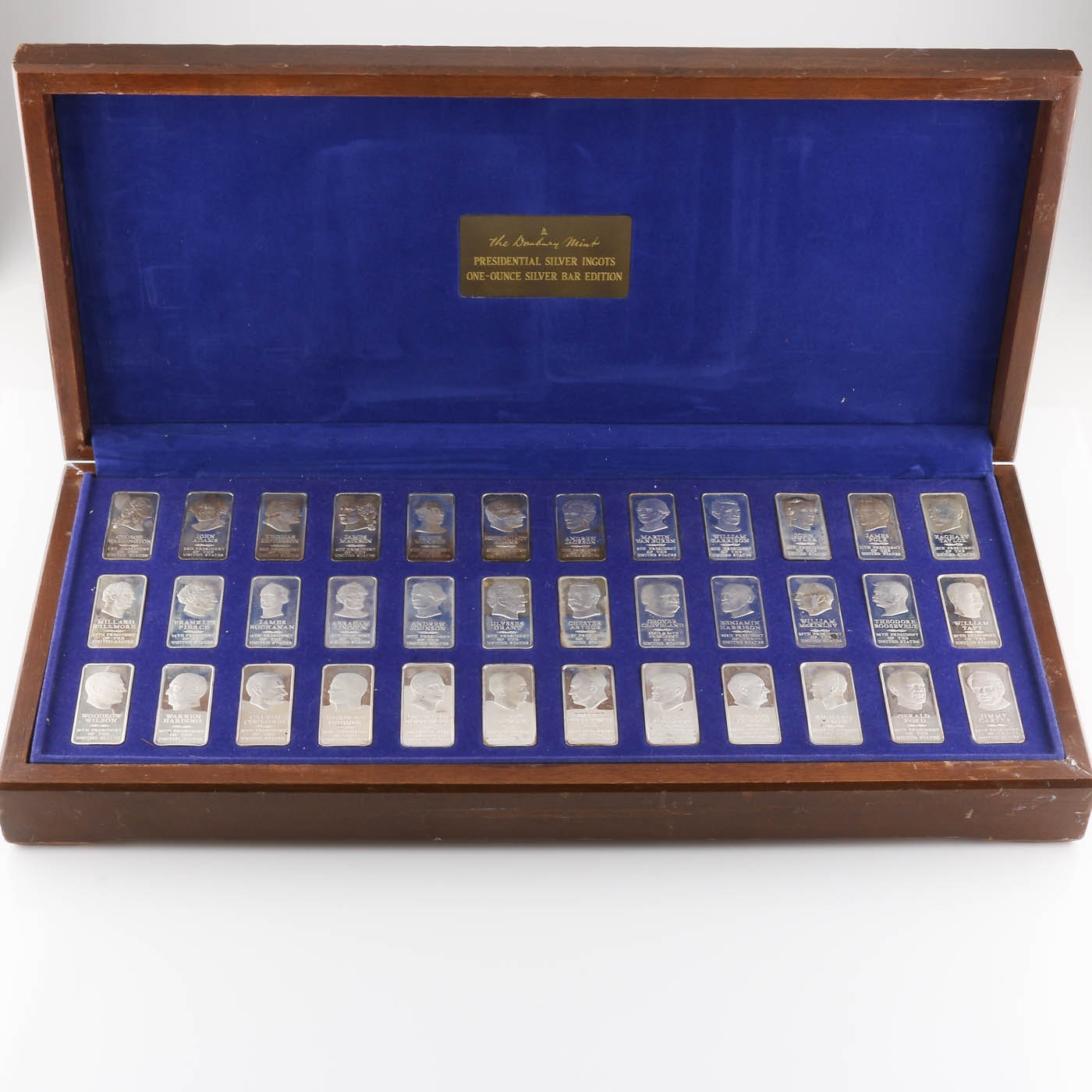 Danbury Mint Presidential Silver Ingots Collection