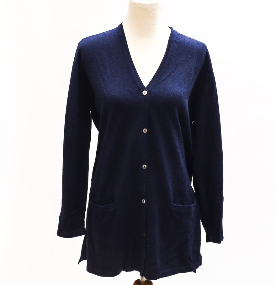TSE Navy Blue Cashmere Cardigan : EBTH