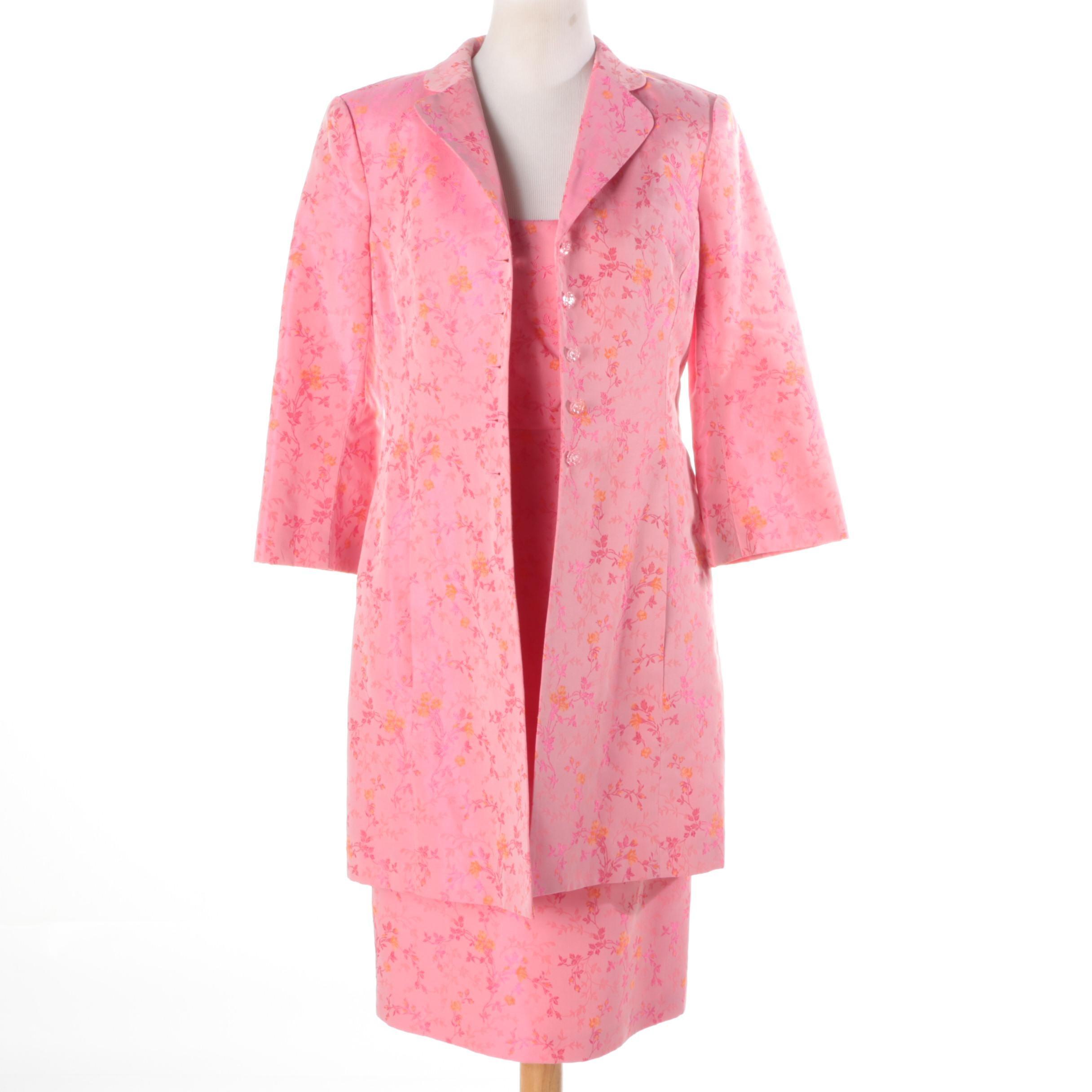 Nanette Lepore Pink Floral Dress Set