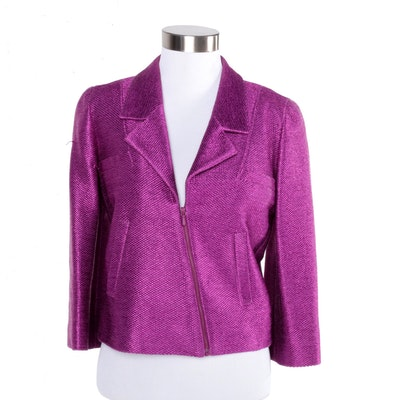 Chanel Magenta Suit Jacket