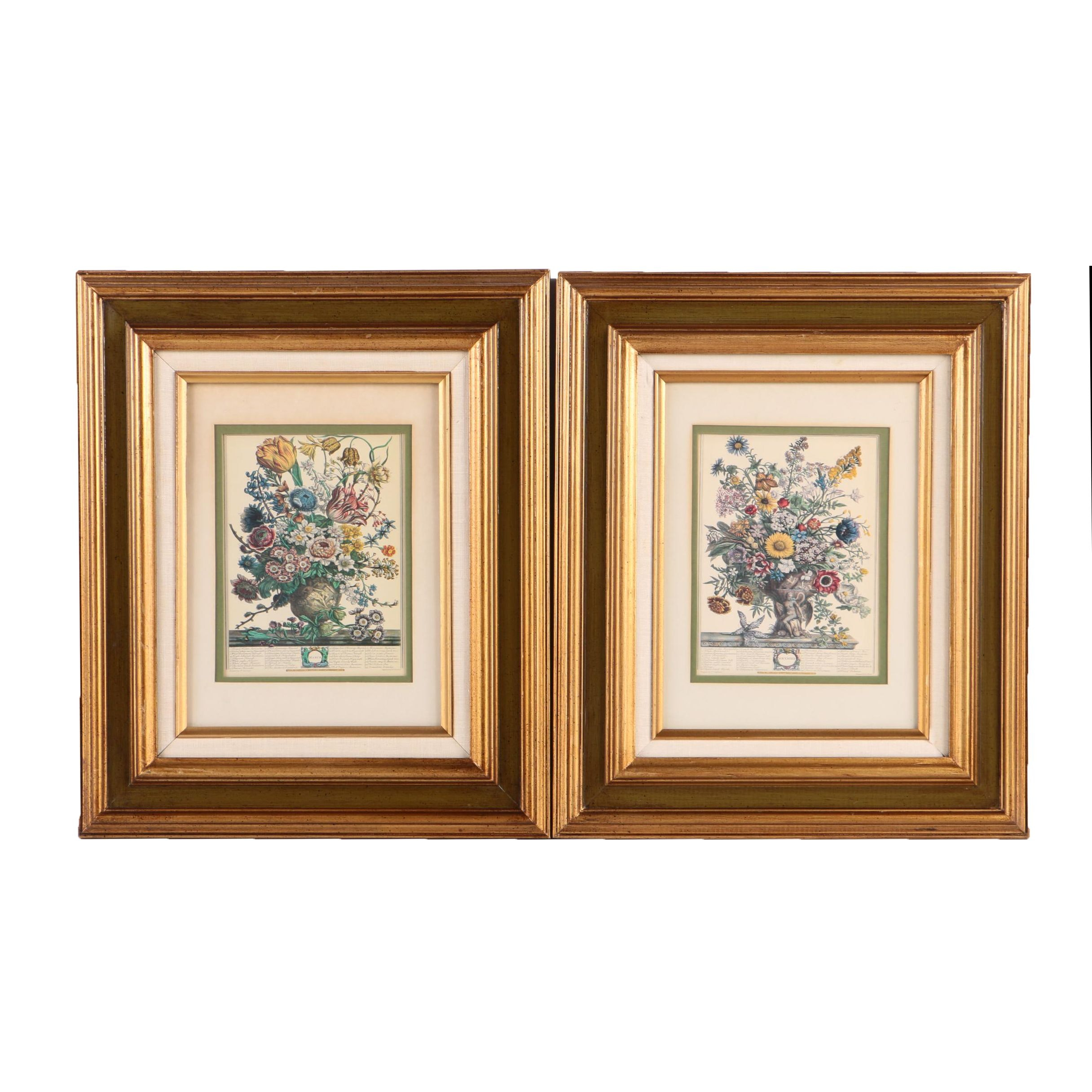 """Two Offset Lithographs After H. Fletcher """"March"""" and """"November"""""""