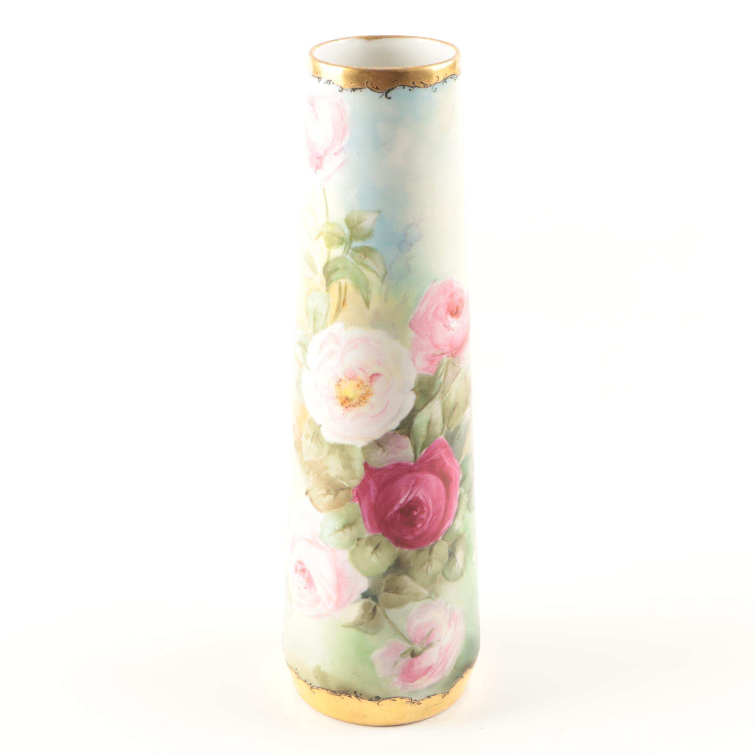 Floral Porcelain Vase