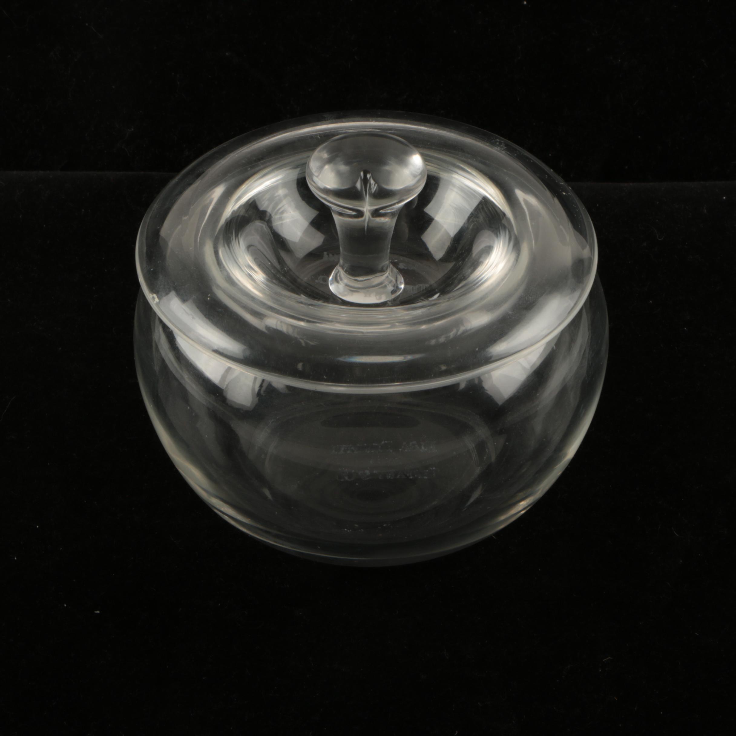 Elsa Peretti for Tiffany & Co. Lidded Crystal Dish