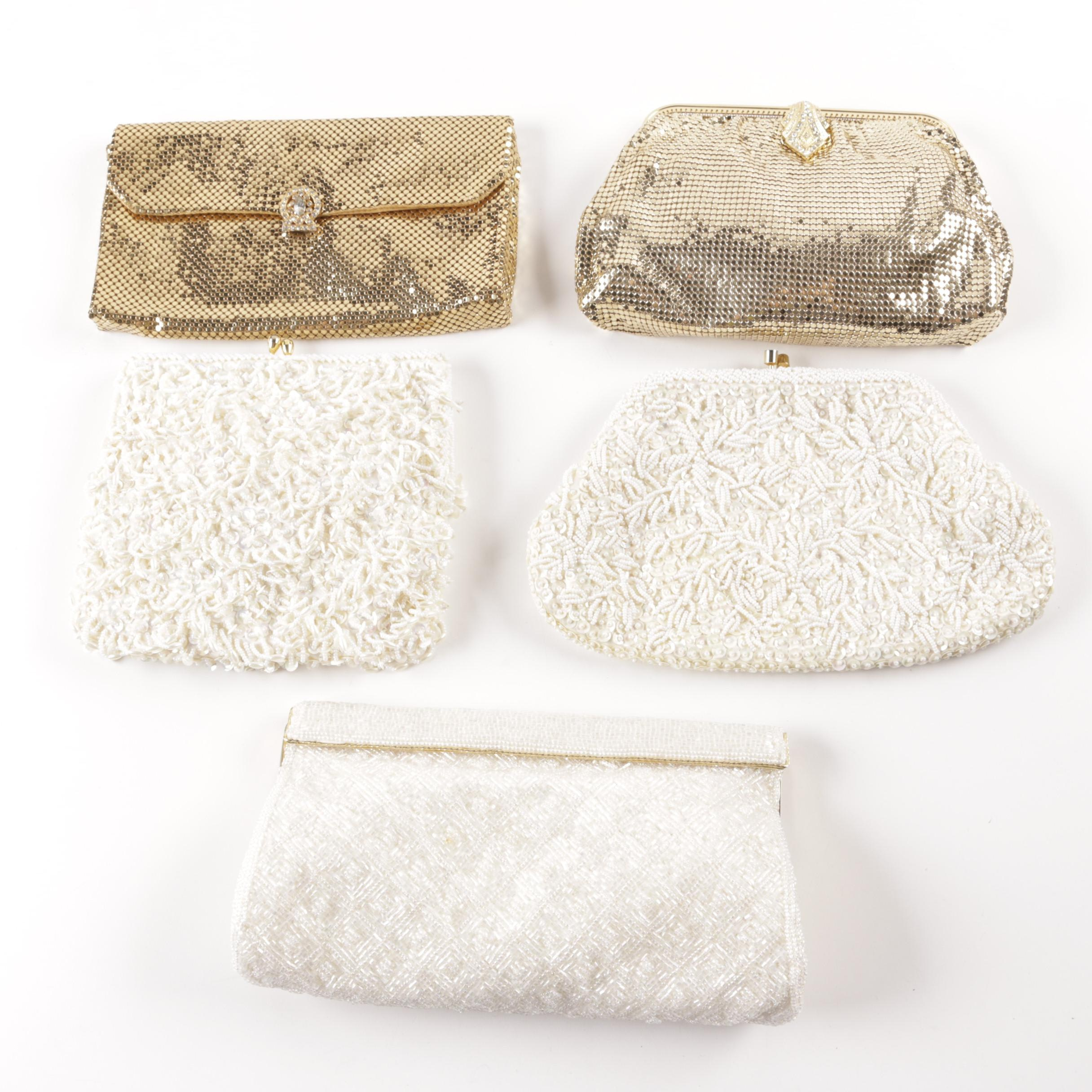 Vintage Embellished Clutch Handbags Including Whiting & Davis Co.
