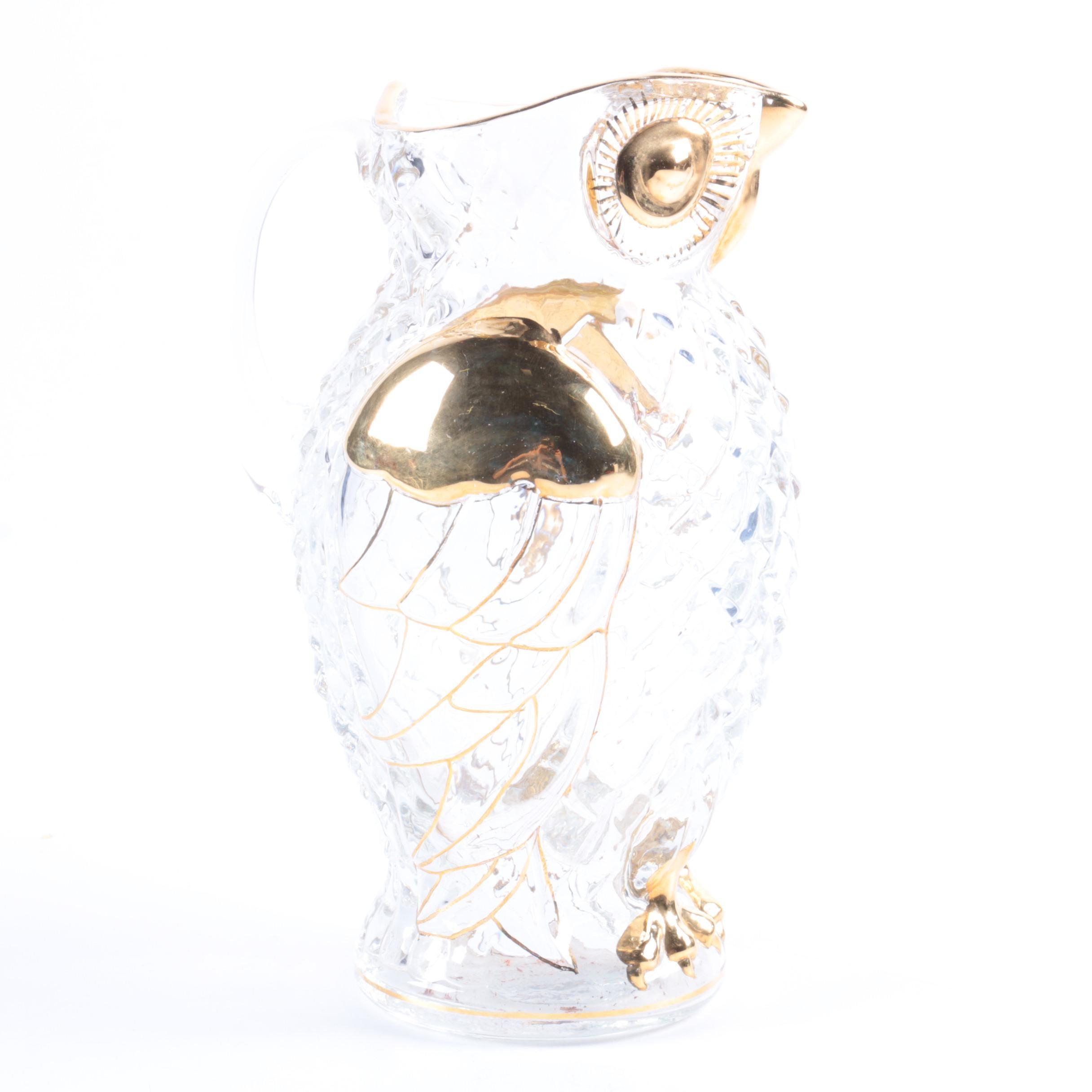 Famosa Crystal Owl Pitcher