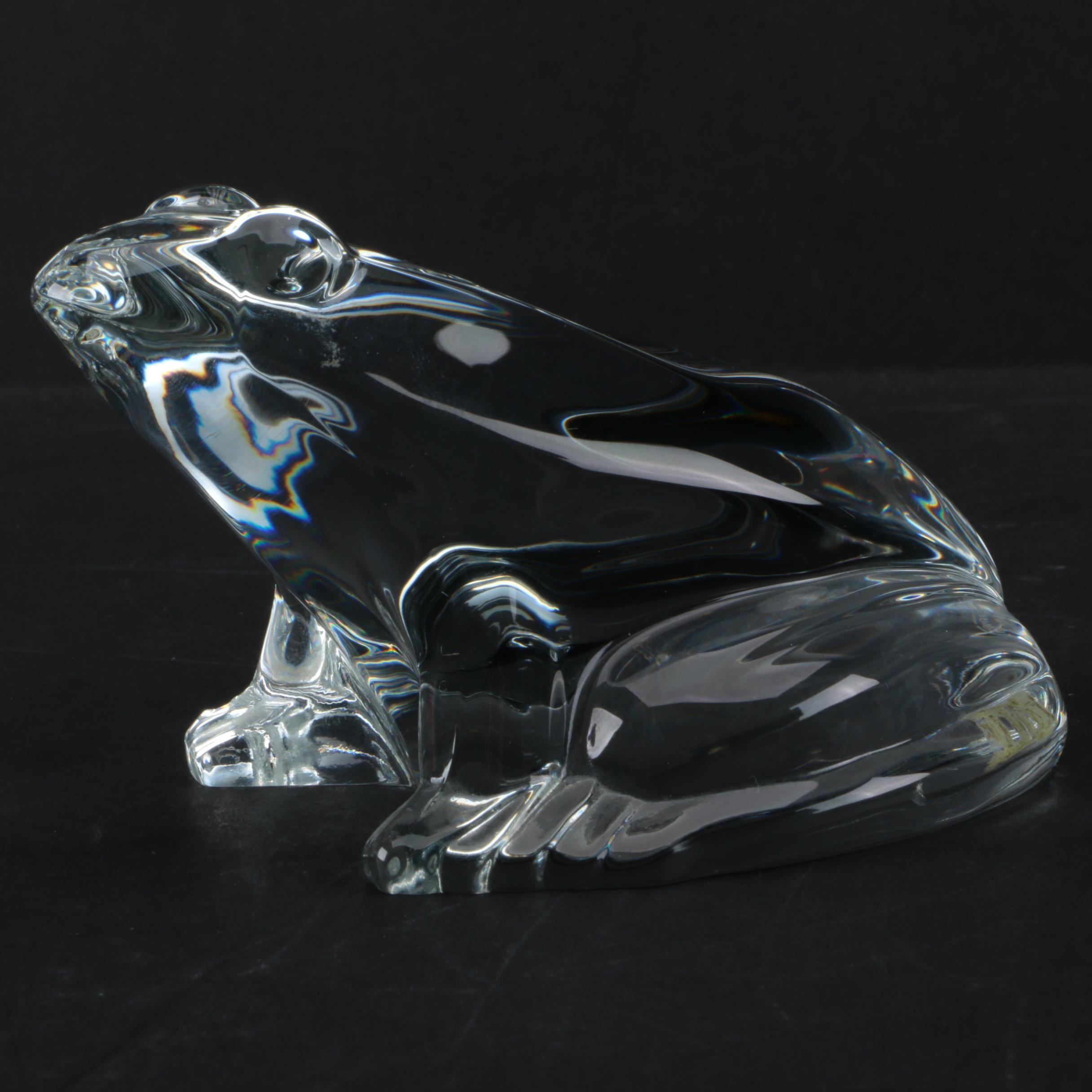 Baccarat Crystal Frog Figure