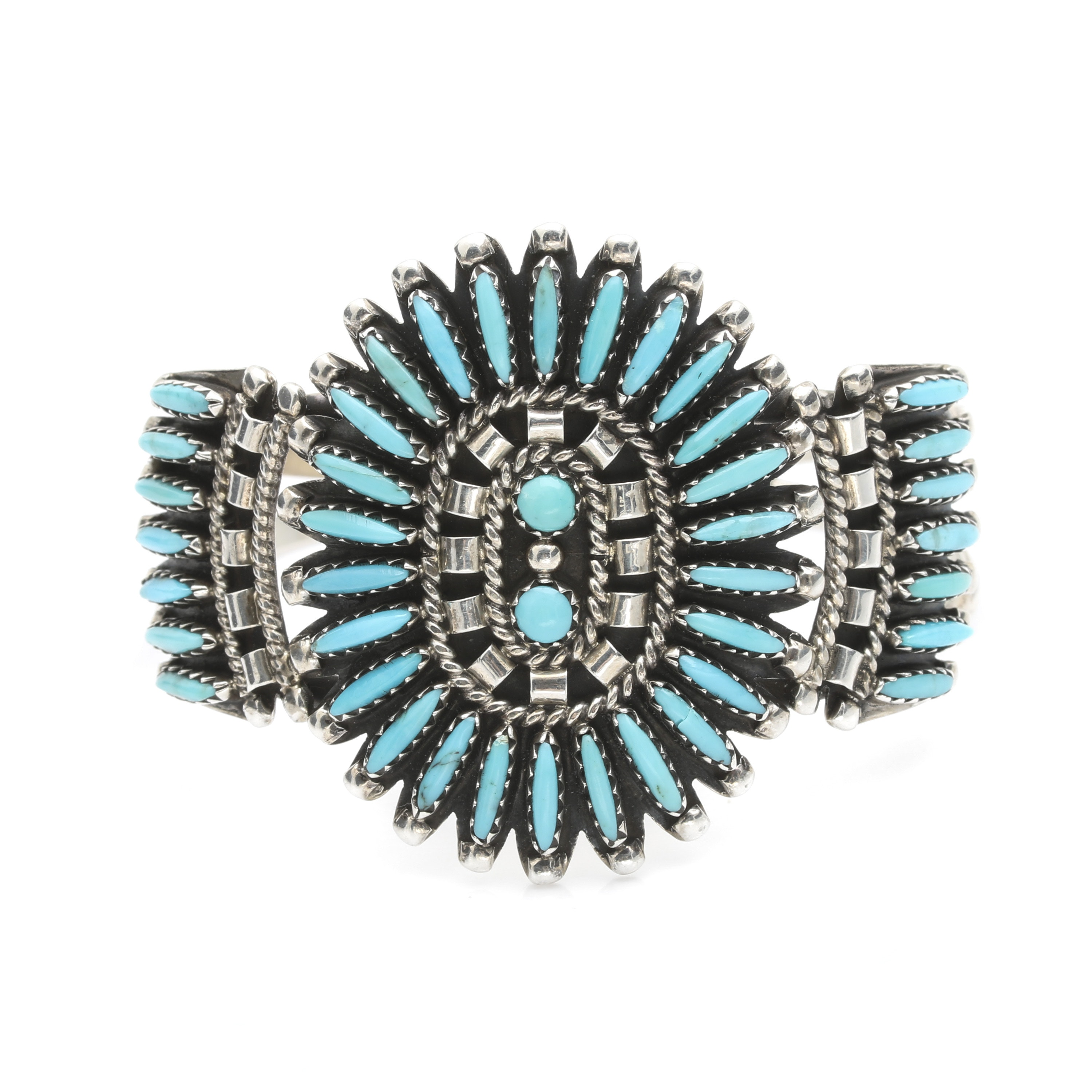 Sterling Silver Needle Point Turquoise Cuff Bracelet