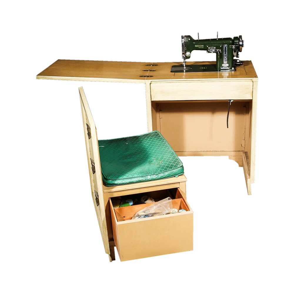 Vintage Necchi Sewing Machine and Cabinet ...  sc 1 st  Everything But The House & Vintage Necchi Sewing Machine and Cabinet : EBTH