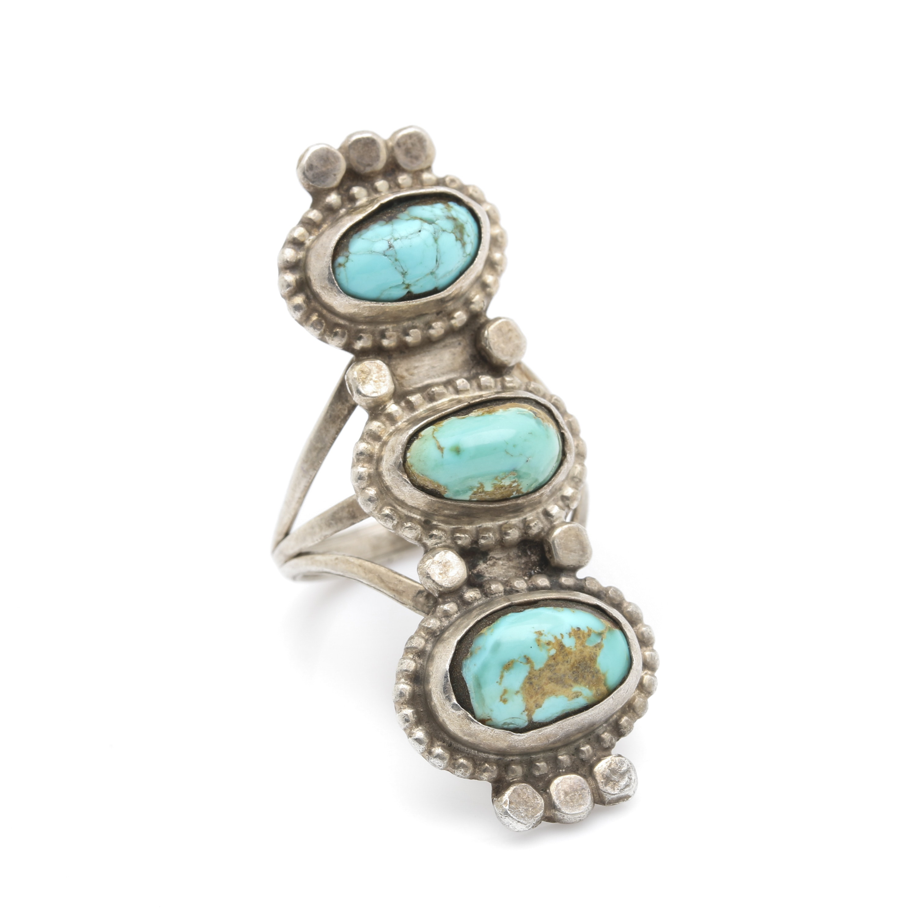 Southwest Inspired Sterling Silver and Stone Stacking Ring