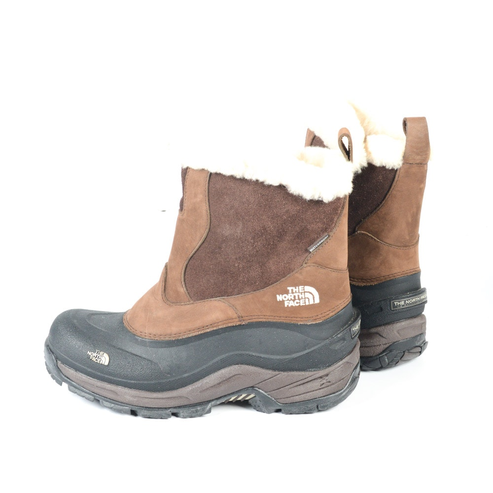 Women's The North Face Brown Leather Snow Boots
