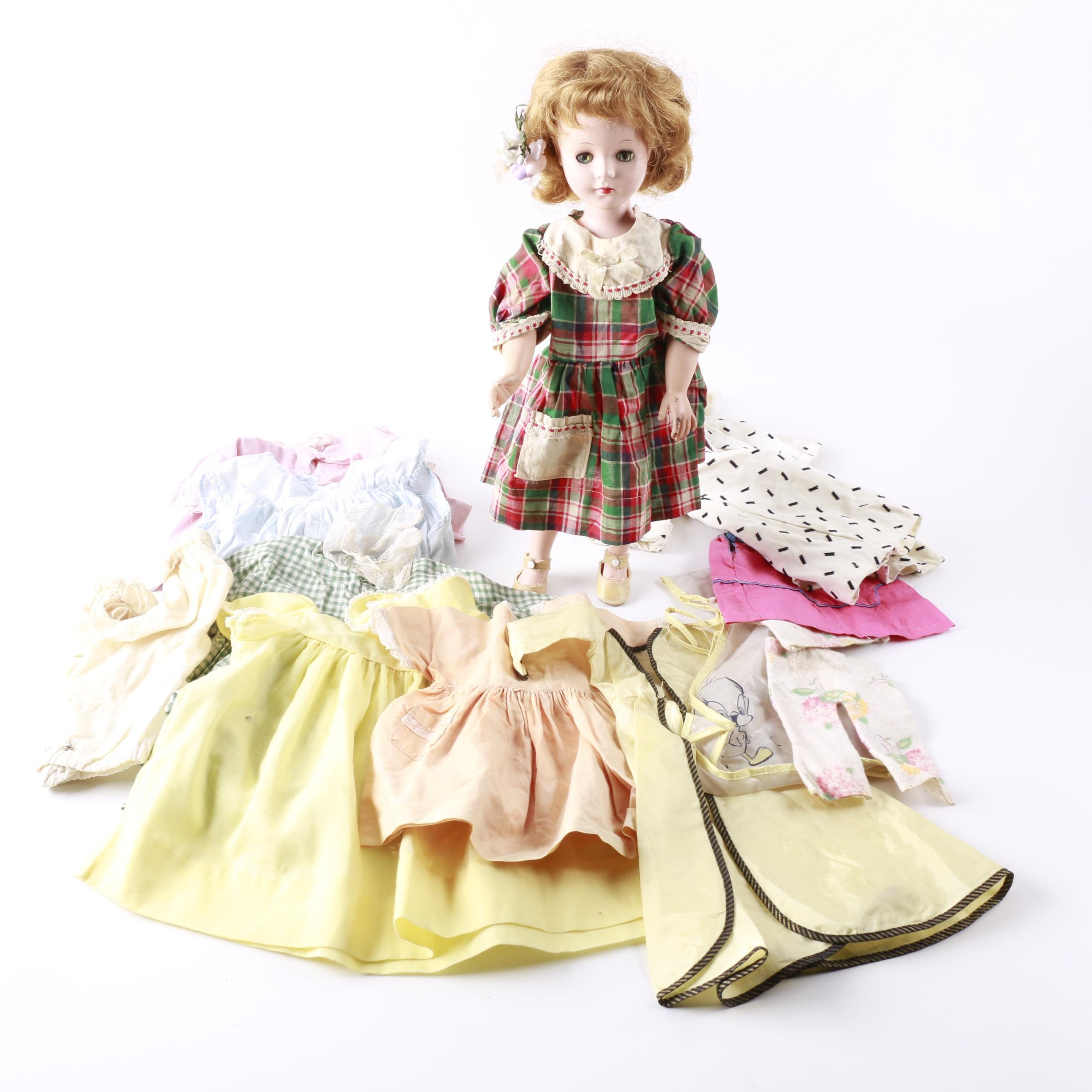 "1950s American Character ""Toni""  Doll and Accessories"