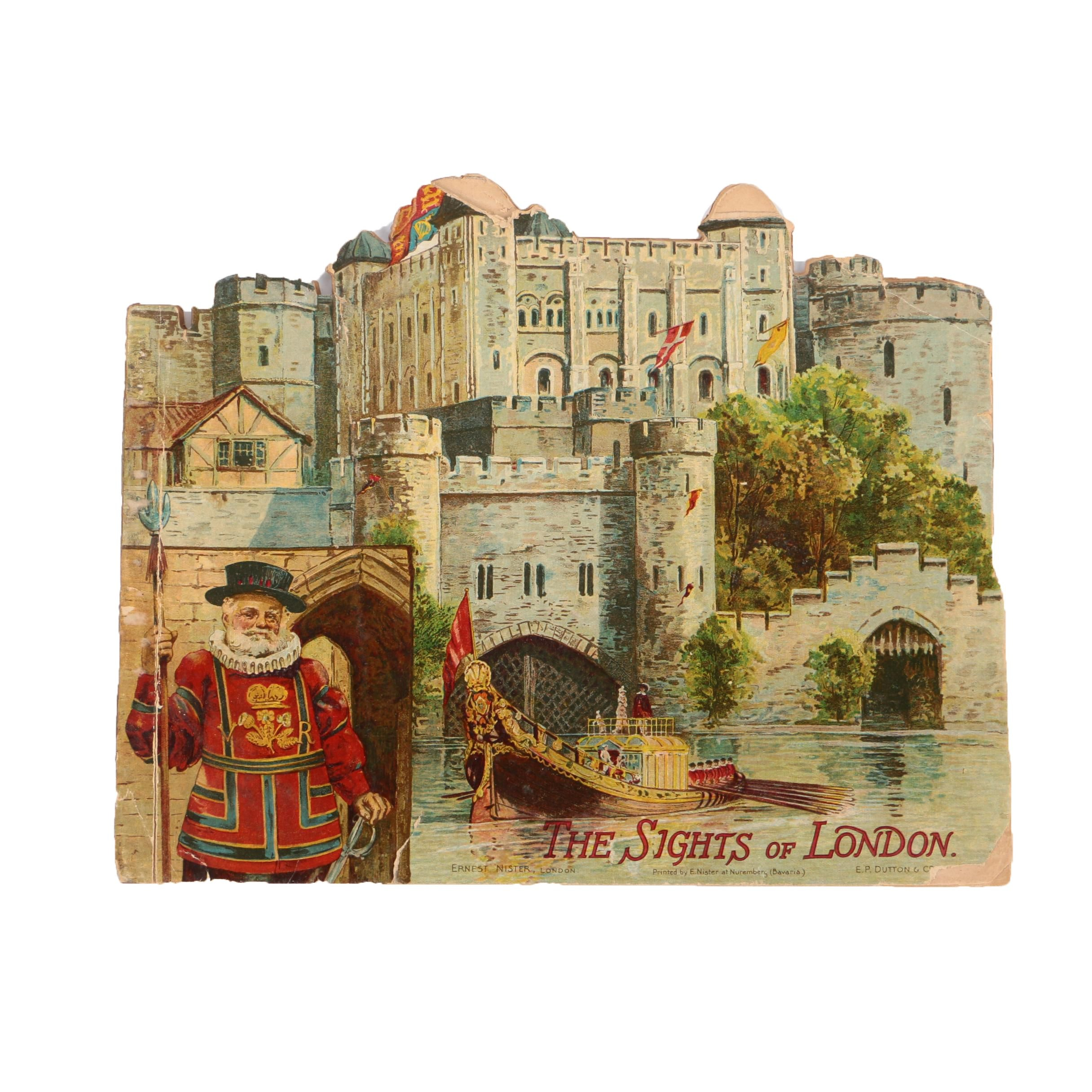 """Ernest Nister's """"The Sights of London"""" with Chromolithograph Illustrations"""