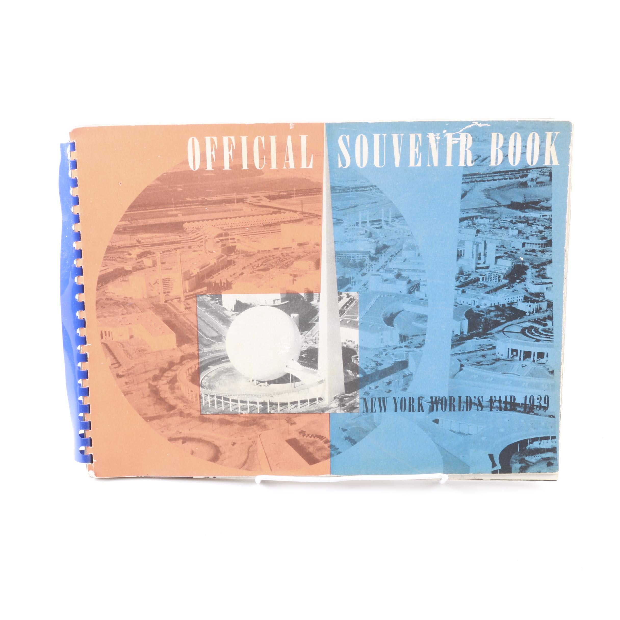 "1939 ""Official Souvenir Book New York World's Fair 1939"""