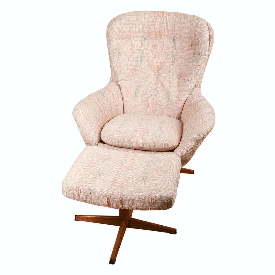 Fine Modern Swivel Armchair And Ottoman By Swedfurn Ab Slatte Mobler Toreboda Ibusinesslaw Wood Chair Design Ideas Ibusinesslaworg