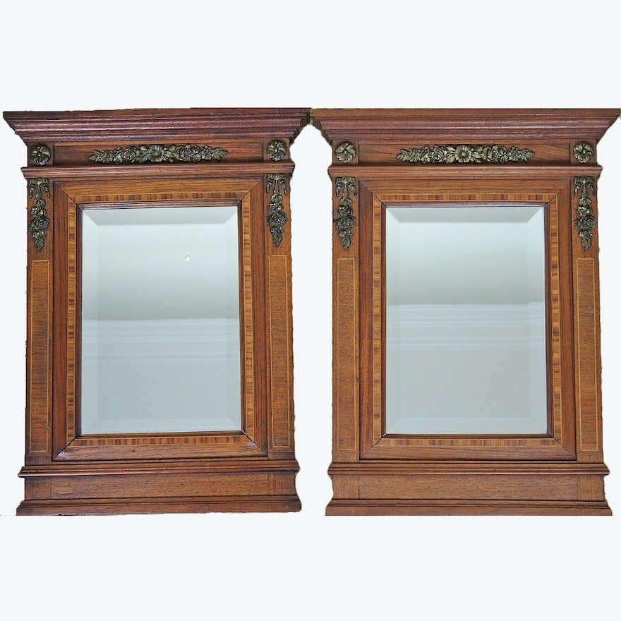 ce731f7d84f Pair of Small Wall Mirrors by Marcoz   EBTH