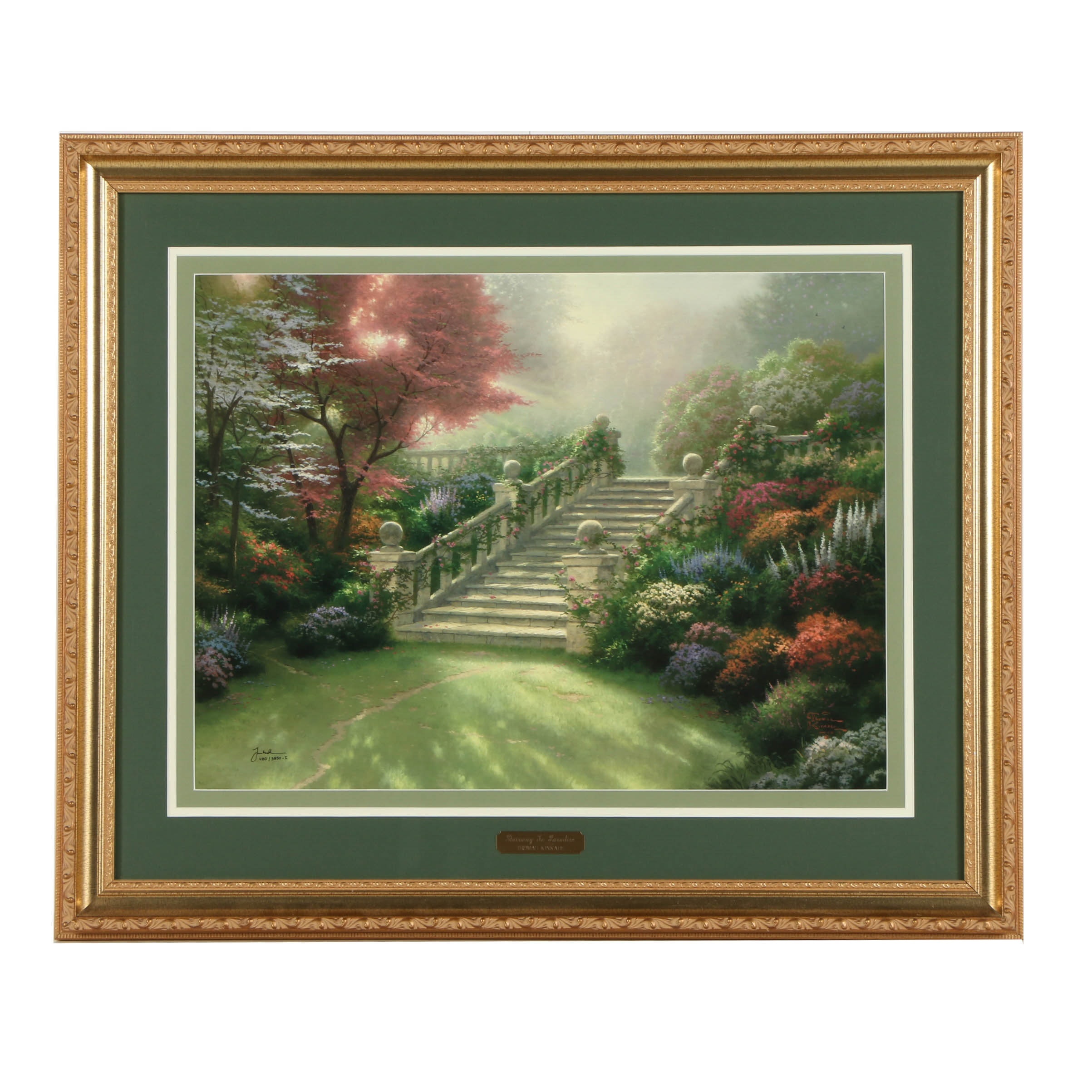 """Thomas Kinkade Limited Edition Offset Lithograph on Paper """"Stairway to Paradise"""""""