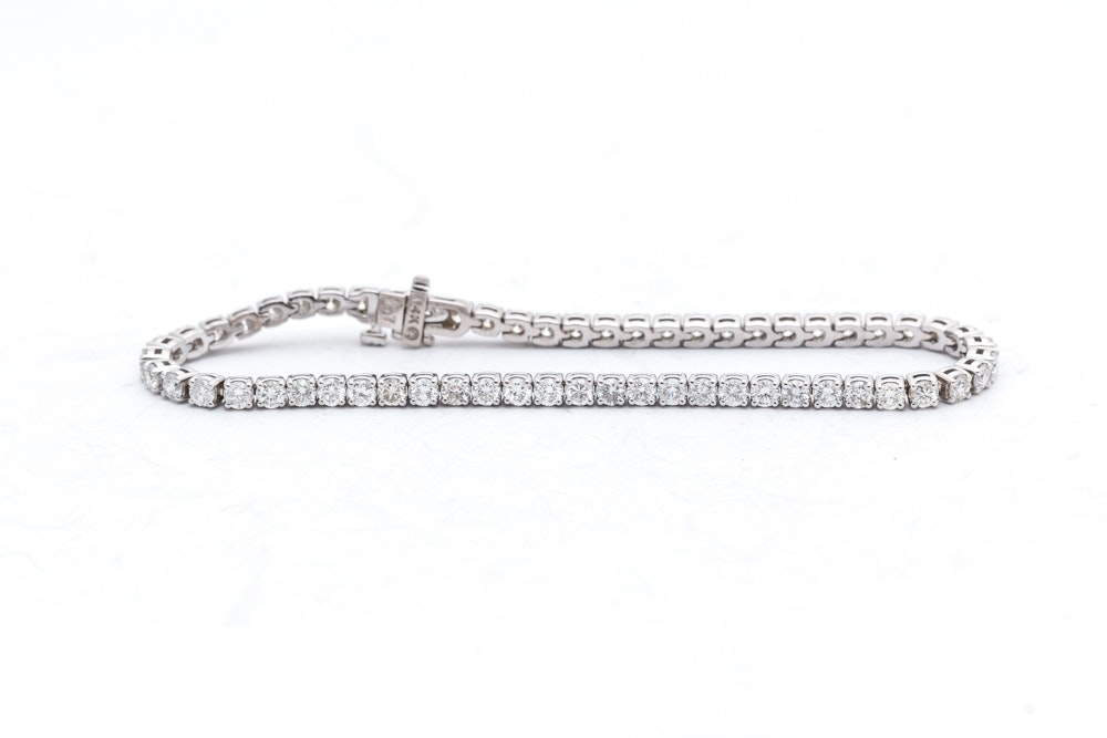 14K White Gold 5.07 CTW Diamond Bracelet