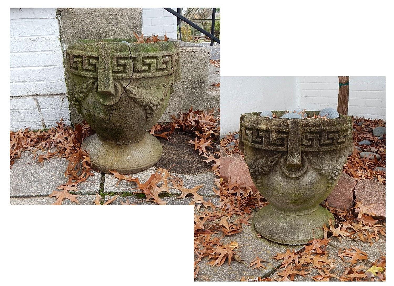 Two Concrete Planters