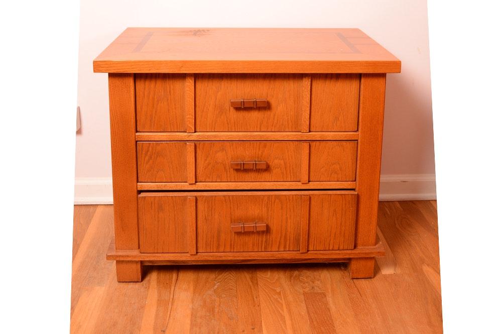 Robert Sonneman Vintage Mission Style Oak Nightstand by Stanley Furniture