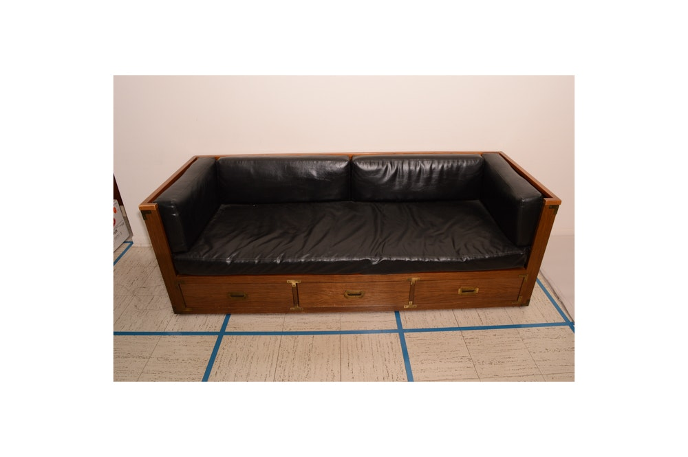 Vintage Campaign Style Sofa