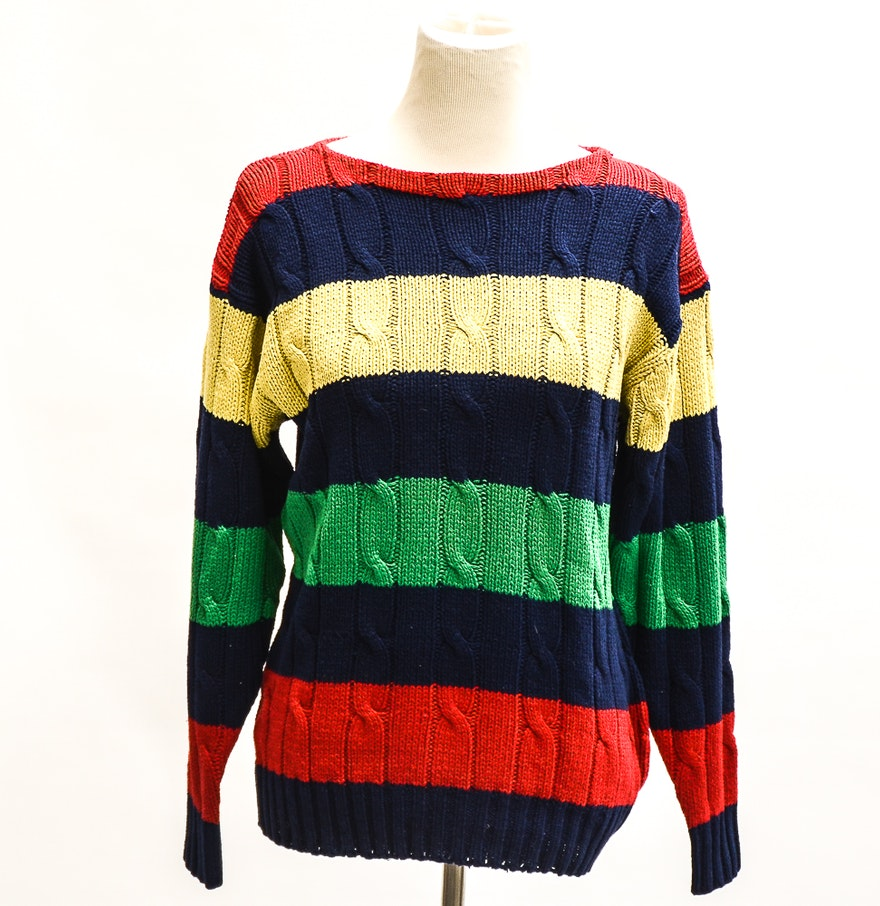 Ralph Lauren Cable Knit Silk Sweater : EBTH