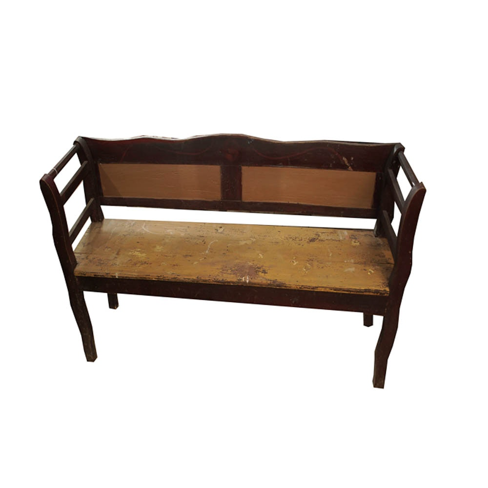 Antique American Bench Or Hired Man's Bed
