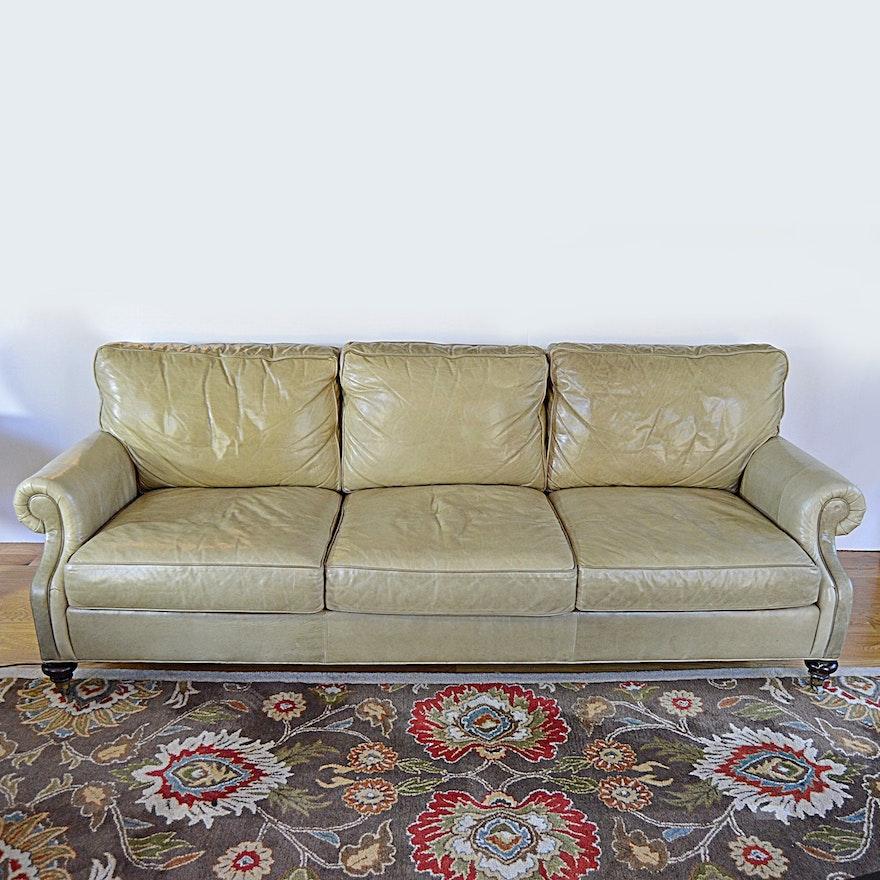 Marvelous Wesley Hall Beige Leather Three Seat Sofa Uwap Interior Chair Design Uwaporg