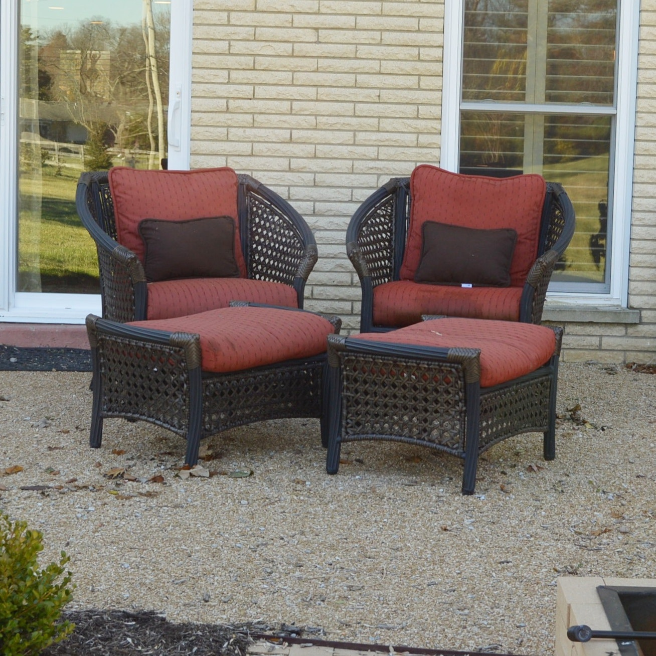 Weatherproof Wicker Outdoor Seating with Sunbrela Cushions