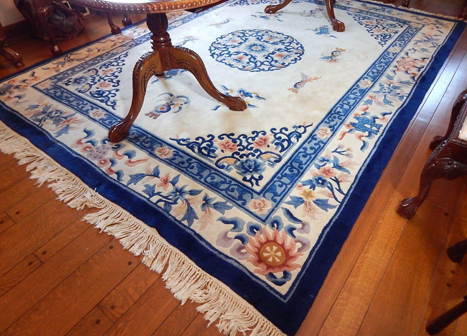 Chinese Peking Style Tufted Wool Area Rug