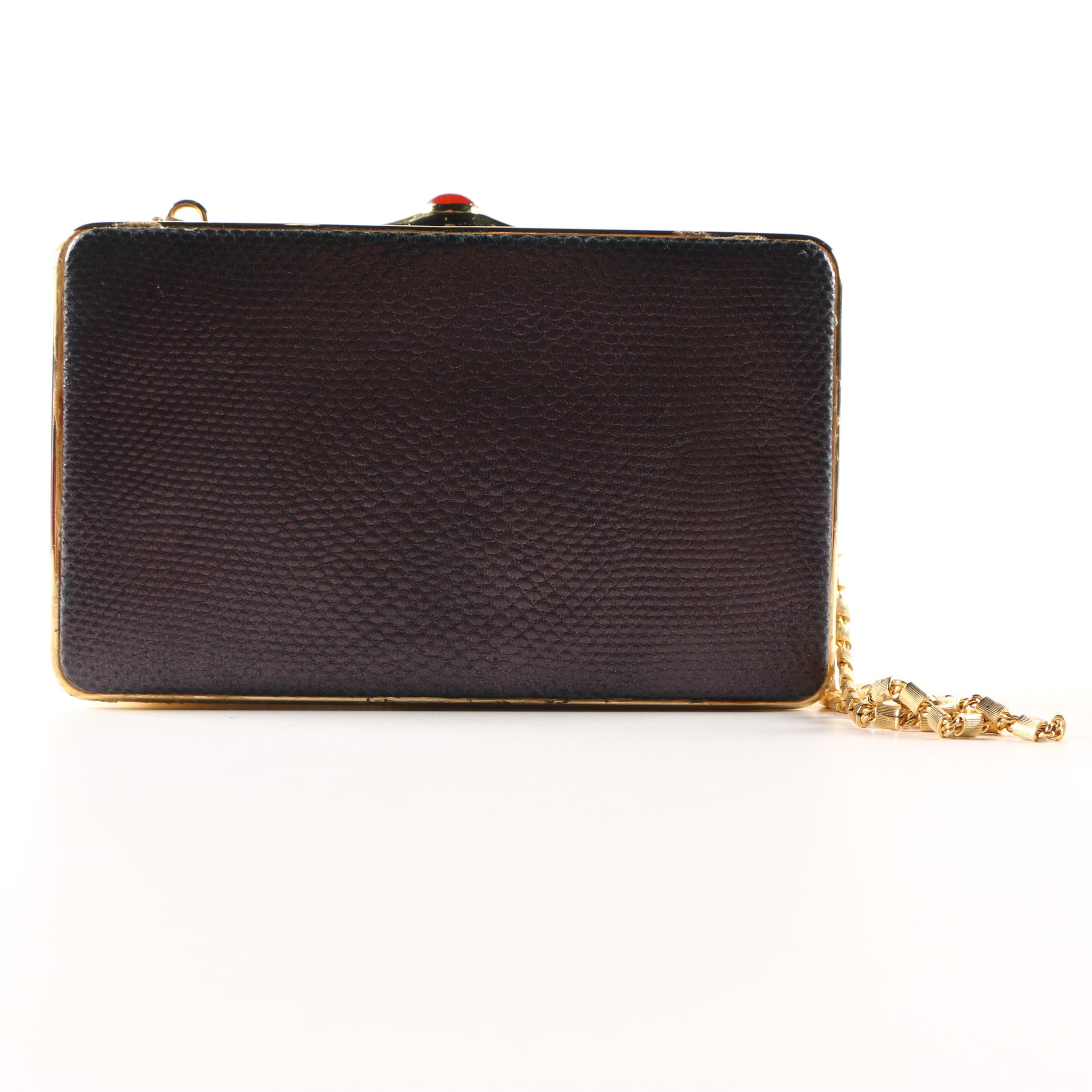 Judith Leiber for Bonwit Teller Snakeskin Box Clutch