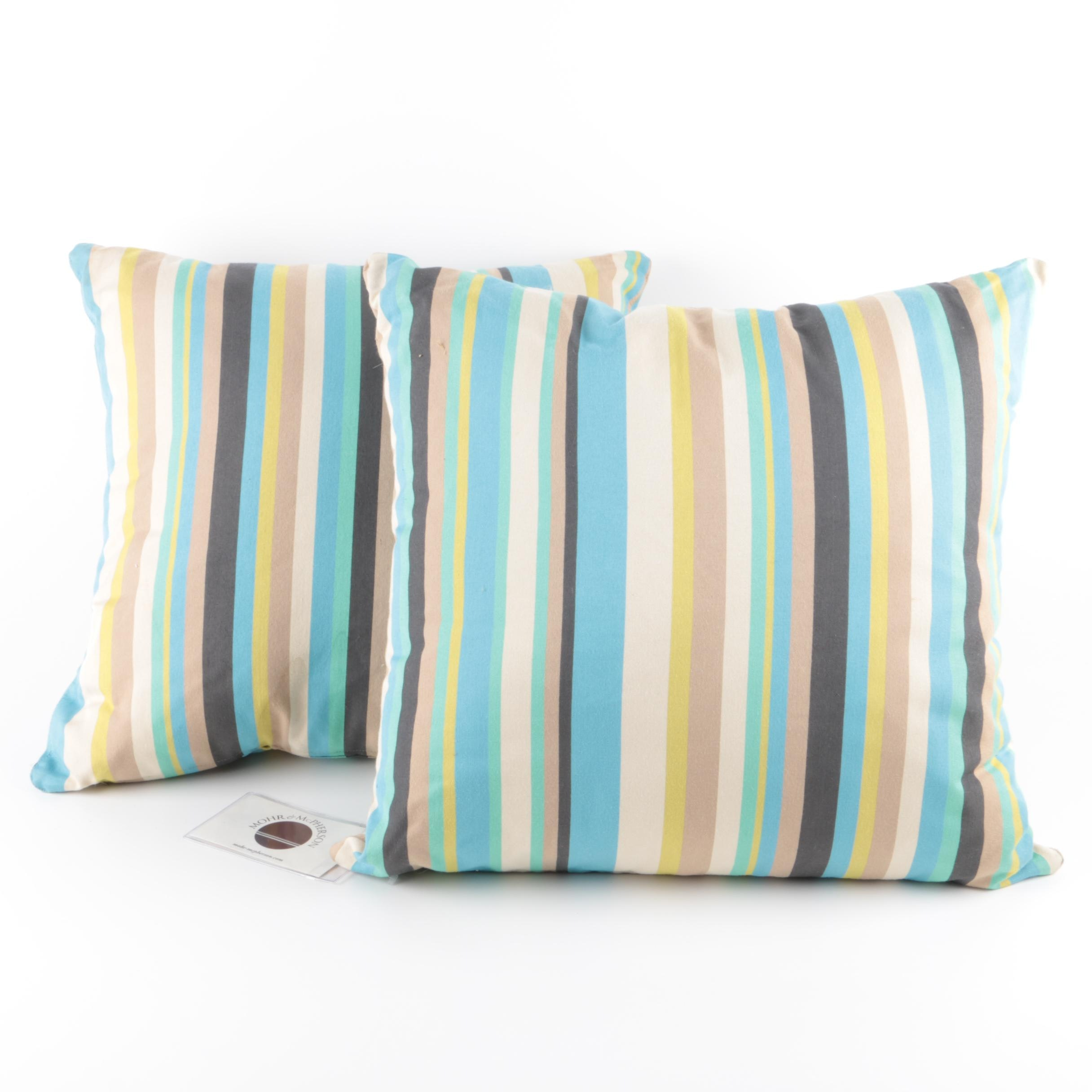 Two Striped Throw Pillows
