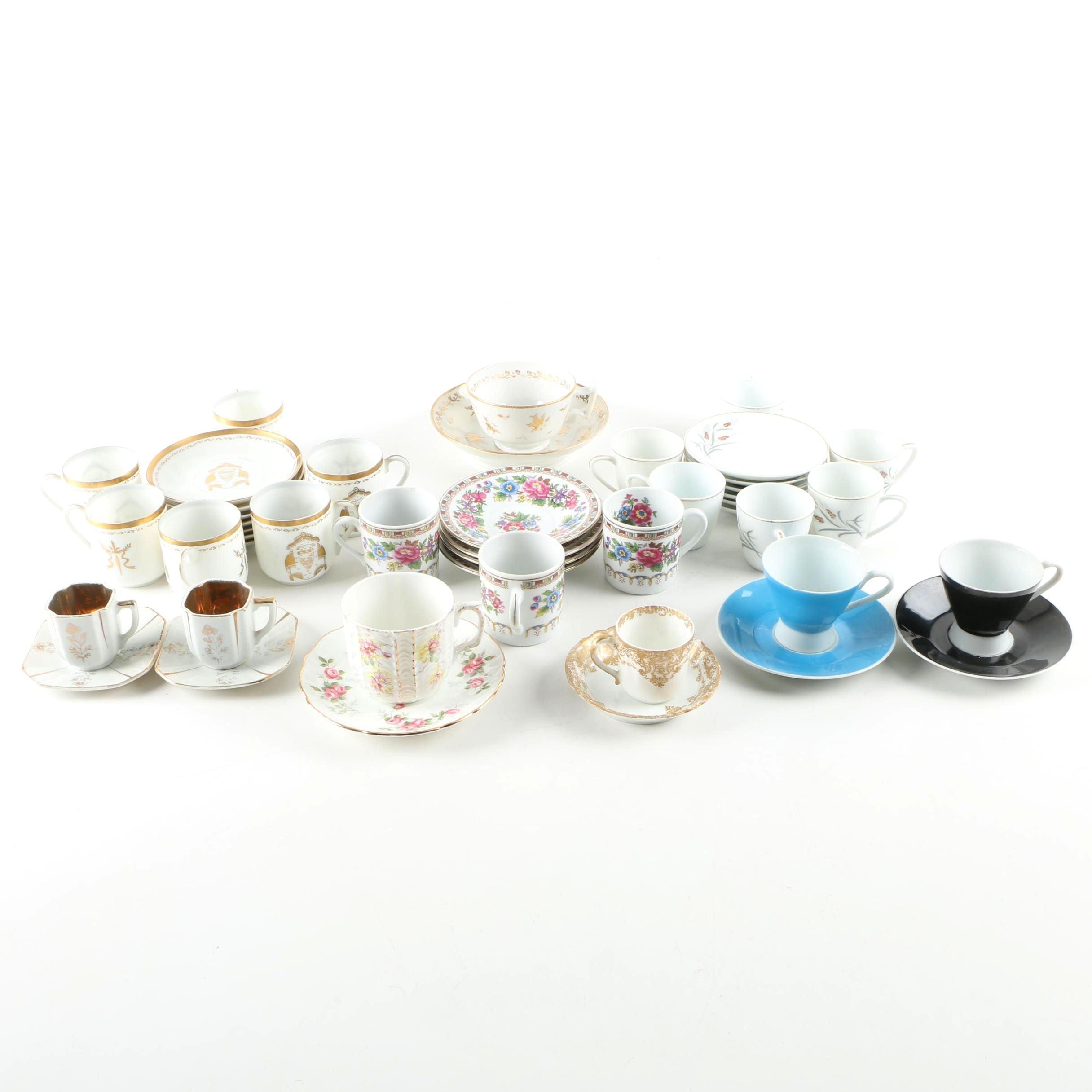 Porcelain Tableware Including Antique Haviland Limoges