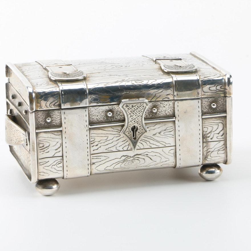 1896 Ivan Morozov Russian 875 Silver Casket